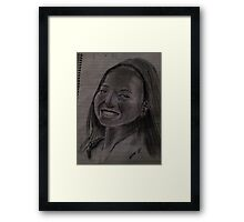 Smiling girl Framed Print