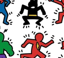 shaking heroes Sticker