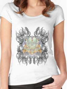 Psychedelic bouquet Women's Fitted Scoop T-Shirt