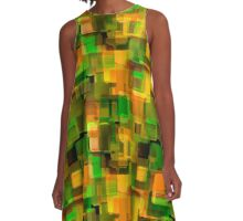 Abstraction. The graphic pattern. A-Line Dress