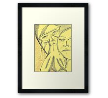 just might work Framed Print