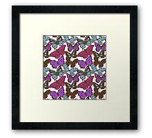 Violet butterflies Framed Print