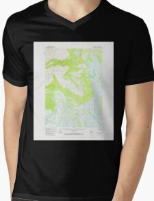 USGS TOPO Map Alaska AK Kenai D-6 356655 1958 63360 Mens V-Neck T-Shirt
