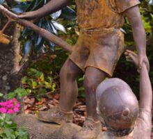 Rustic garden sculpture Sticker