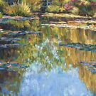 Monet's pond in pastel by Terri Maddock