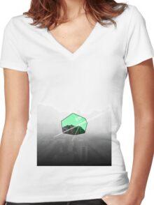 In Running Women's Fitted V-Neck T-Shirt