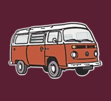 Bay Window Campervan Orange T-Shirt