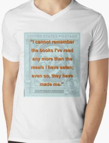 I Cannot Remember The Books Ive Read - RW Emerson Mens V-Neck T-Shirt
