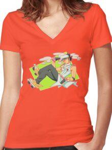 Jotaro Kujo Women's Fitted V-Neck T-Shirt