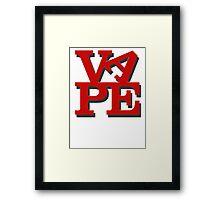 Love Vape Framed Print