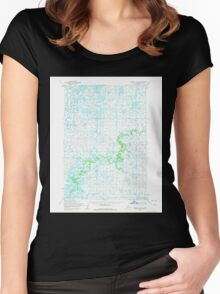 USGS TOPO Map Alaska AK Marshall B-4 357215 1954 63360 Women's Fitted Scoop T-Shirt