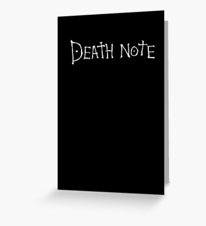 Death Note-book Greeting Card