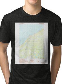 USGS TOPO Map Alaska AK Kenai D-2 NW 353728 1986 25000 Tri-blend T-Shirt