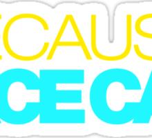 BECAUSE RACE CAR (3) Sticker