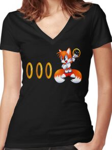 Classic Tails Women's Fitted V-Neck T-Shirt
