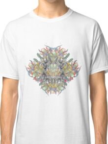 Psychedelic flower red bouquet Classic T-Shirt