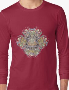 Psychedelic flower red bouquet Long Sleeve T-Shirt