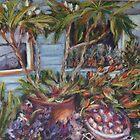 Flower & fruit stall by Terri Maddock