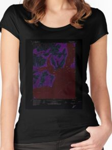 USGS TOPO Map Alaska AK Iliamna C-2 356263 1958 63360 Inverted Women's Fitted Scoop T-Shirt