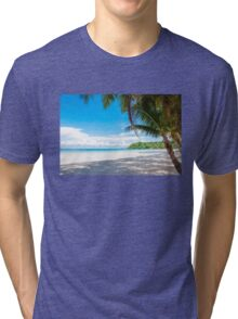 Beautiful tropical beach Tri-blend T-Shirt