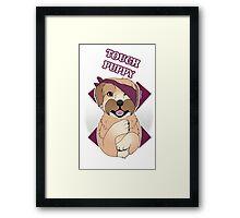 Tough Barney Framed Print