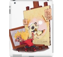 calvin was painting Hobbes iPad Case/Skin