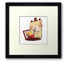 calvin was painting Hobbes Framed Print