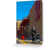 Rude Boy Goes to Target Greeting Card