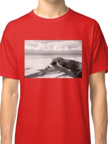 Fallen palm tree in black and white Classic T-Shirt