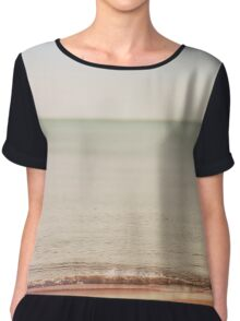 Let The Sea Be You Chiffon Top