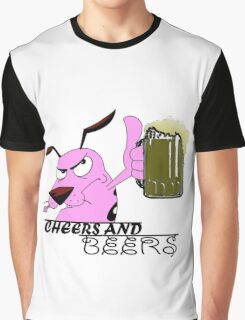 Cheers And Beers Courage Dog Graphic T-Shirt
