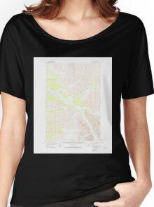 USGS TOPO Map Alaska AK Lime Hills D-4 357063 1958 63360 Women's Relaxed Fit T-Shirt