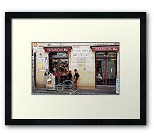 Outside the Bar  Framed Print