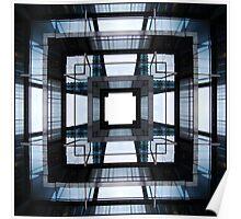 Industrial Mandala, glass and metal Poster