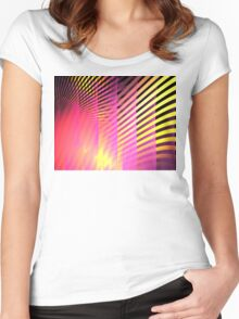 Pink Skyscrapers Women's Fitted Scoop T-Shirt