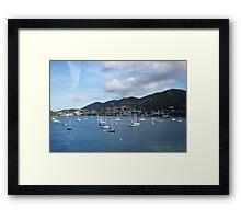 St. Thomas Sailboats Framed Print