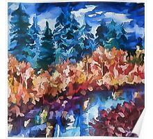 Fall in the Rockies by Lena Owens Poster