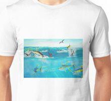 Yellowfin Tuna Feeding Freny Unisex T-Shirt
