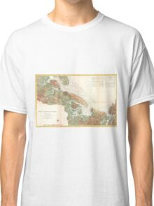 Vintage Map of Ipswich and Annisquam Harbor (1857) Classic T-Shirt