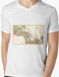 Vintage Map of Ipswich and Annisquam Harbor (1857) Mens V-Neck T-Shirt