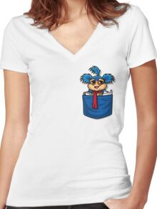Allo! Come Inside! As seen on TeeFury Women's Fitted V-Neck T-Shirt