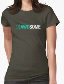 AWDSOME (3) Womens Fitted T-Shirt