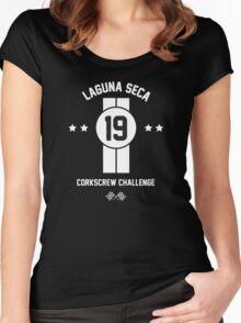 Laguna Seca - White Women's Fitted Scoop T-Shirt