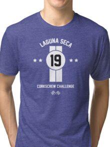 Laguna Seca - White Tri-blend T-Shirt
