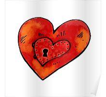 Metal heart Poster