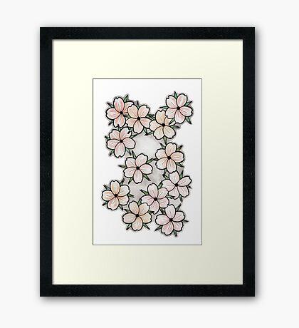 """Blossoms"" Peach. Framed Print"