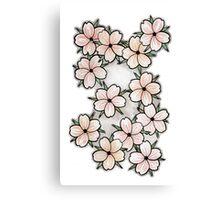 """""""Blossoms"""" Peach. Canvas Print"""