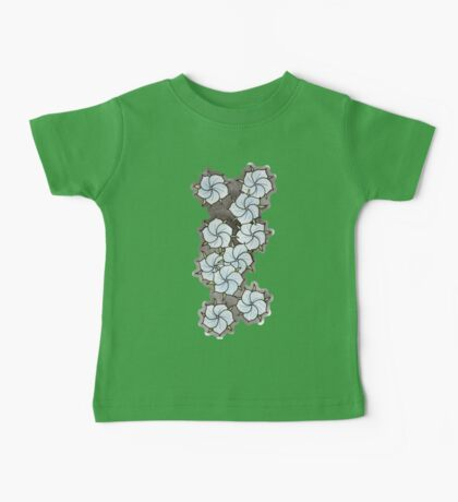 """""""Blossoms"""" Blue. Baby Tee"""