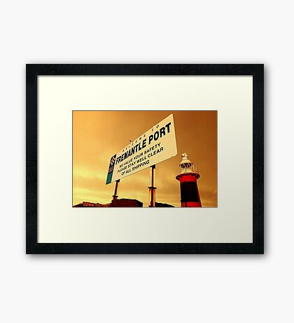 Welcome To Fremantle Framed Print