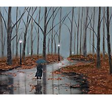 A Dreary Autumn Evening Photographic Print